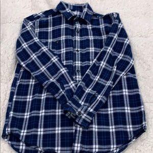 Gap boys xxl/14-16 button down plaid shirt